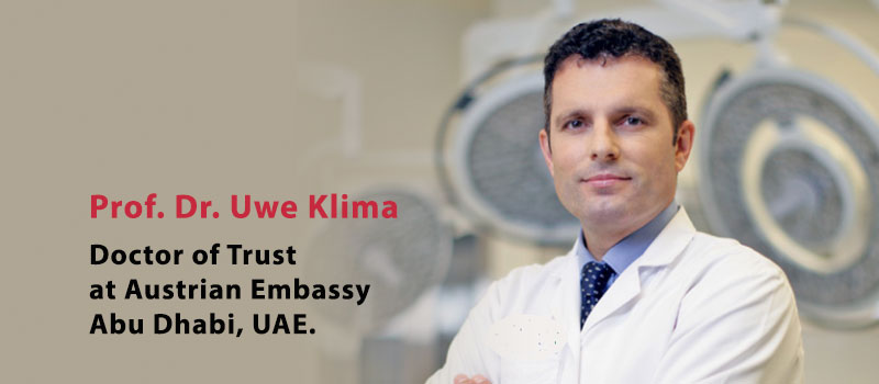 Professor Dr. Uwe Klima is now the Doctor of Trust in Austrian Embassy in UAE